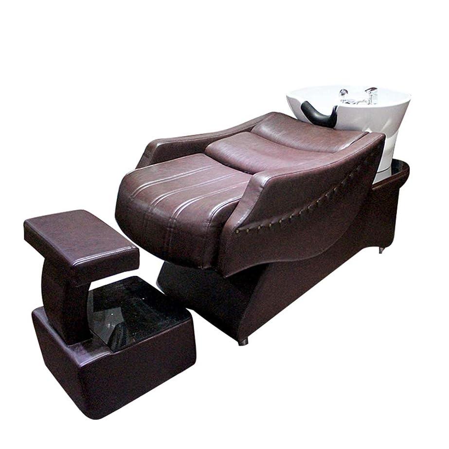説教する労働者スキルシャンプーチェア、半横になっているシャンプーベッドの逆洗ユニットシャンプーボウル理髪シンクシンクチェア用スパ美容院機器
