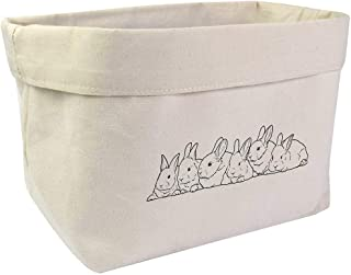 Large 'Fluffle of Rabbit Kittens' Canvas Organiser / Storage Bag (OR00016348)