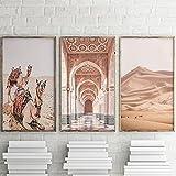 LIANGX Leinwand Wandbilder Poster Islamische Kamel Wüste