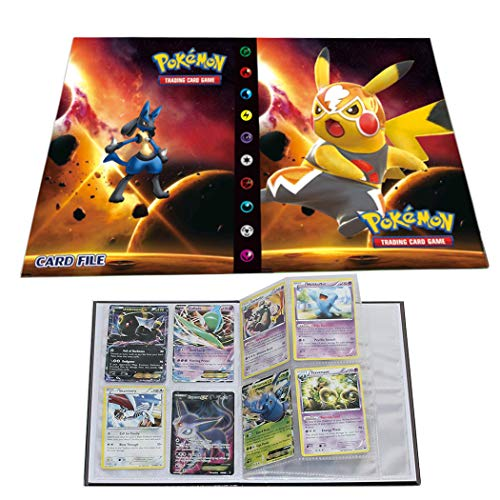 Trading Cards Album Book Best Protection Cards Binder Cards Holder Album for Pokemon - GX EX Box (Pikachu Movie Edition)
