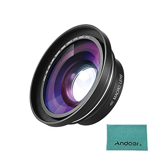 Andoer 30mm 37mm 0.39X Full HD Wide Angle Macro Lens for Ordro Andoer Digital Video Camera Camcorder