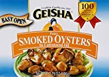 Geisha Fancy Smoked Oysters In Cottonseed Oil, 3.75 oz
