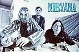 Kurt Cobain Nirvana Poster–Rare Group Shot–NEU