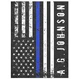 Fleece Baby Blankets Unisex, Police Styled Distressed American Flag Full Custom Fleece Blanket, Warm Cozy Soft Blanket, Blanket for Crib Stroller Nap,, 30''×40''