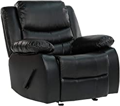 DIVANO ROMA FURNITURE CAM008 Recliner Chair, Black