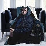 FUNNYFUN Benedict Cumberbatch Blanket Lamb Blanket 3D Print Plush Blanket Bedding Decor Blanket for Living Room Bedroom Dorm Decor