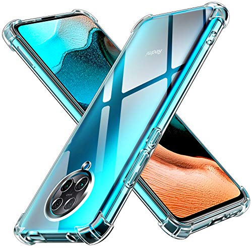 ivoler Funda para Xiaomi Poco F2 Pro, Carcasa Protectora Antigolpes Transparente con Cojín Esquina Parachoques, Suave TPU Silicona Caso Delgada Anti-Choques Case