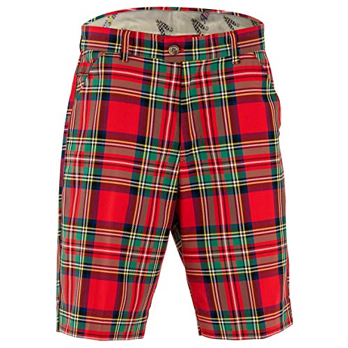 Royal & Awesome Shorts DE Golf Hommes Stewart Tartan