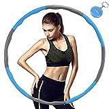 TTMOW Hula Hoop für Fitness,8 Abschnitte des abnehmbaren Hula Hoop können das Gewicht anpassen,Geeignet für Erwachsene und Kinder, mit Mini-Maßband (1.1kg)