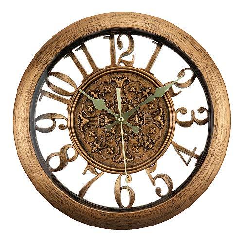 À faire soi-même Horloge Métal Texture créative Horloge Rétro Horloge Mouvement zubehoer Noir