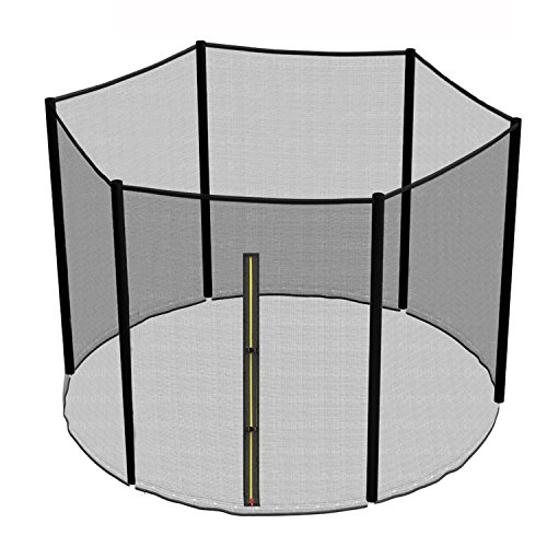 Greenbay Replacement Safety Net Enclosure Surround Outside Netting Black (Net Only) - For 10FT Garden Trampoline With 6 Poles