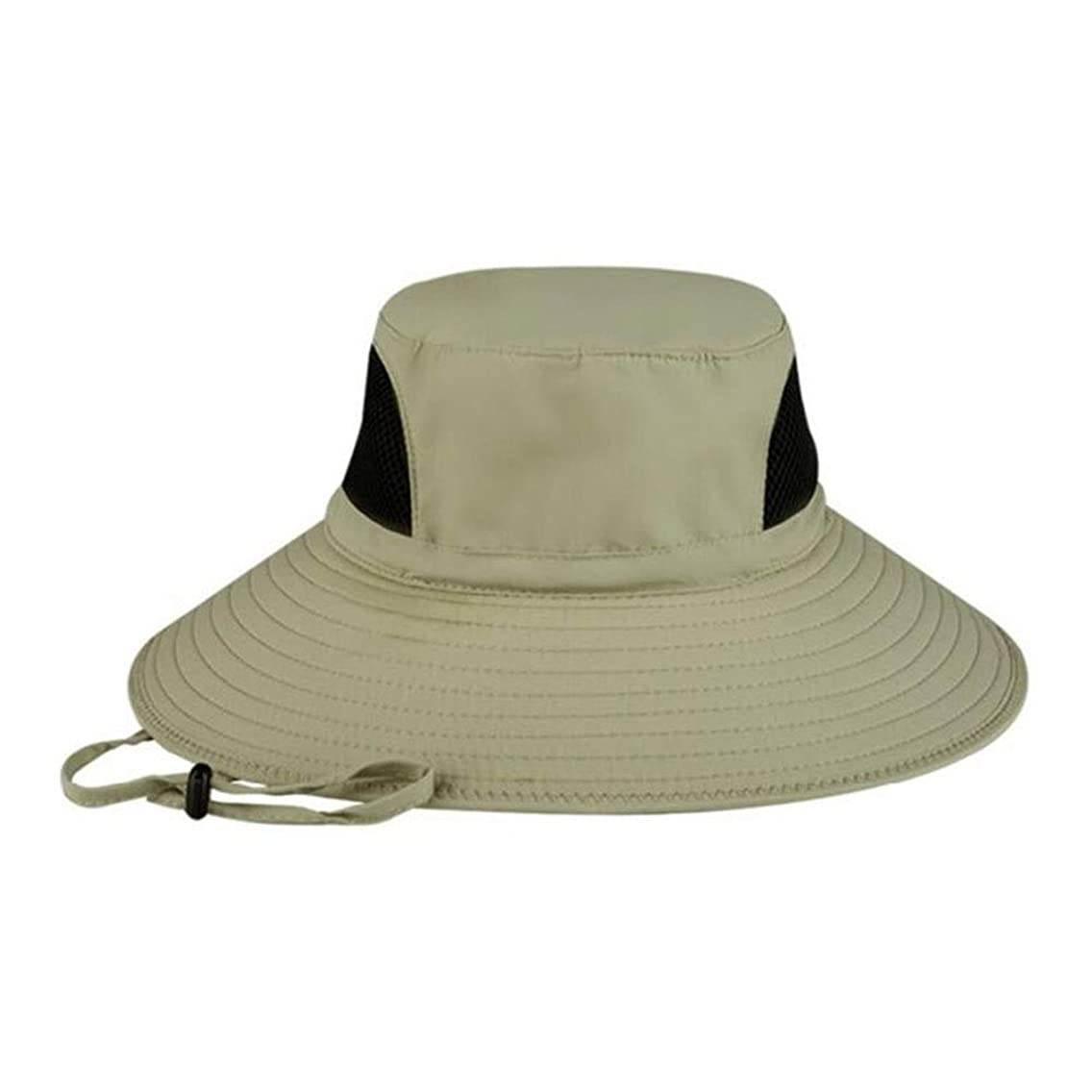 Saisma Men's Outdoor Mountaineering Quick-Drying Breathable Fishing Cap UV Protection Sun Protection Cap Visor Summer Wide-Brimmed Hat Men's Sun Hat (Color : Upgraded Khaki)