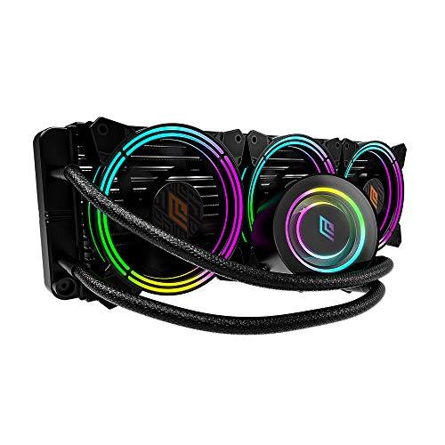 Noua Siberus TR360 ARGB TDP 350W Sistema di Raffreddamento Radiatore 360mm Dissipatore Liquido 3 Ventole RGB Rainbow Addressable 5V 3-Pin ADD RGB per Intel 1200 1150 1151 1155 1366 2066 AMD AM4 AM3