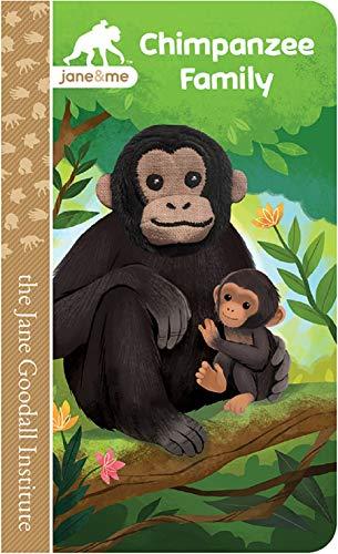 Chimpanzee Family (Jane & Me: Jane Goodall Institute Children's Tall Interactive Finger Puppet Board Book)