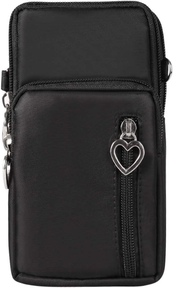 Oxford Cellphone Shoulder Bag Small Crossbody Bags Wrist Pouch for Motorola Moto G Power G Stylus G8 Power / Z4 / Z3 / E6 / E5 Plus / G7 Plus / G7 Play/Google Pixel 4a (Black)