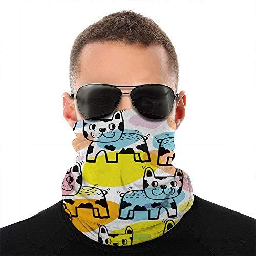 Nother Lindo perro adorable animales cara cara bufanda cubierta deporte al aire libre mujeres hombres cubierta cara variedad toalla cara cara cuello diadema