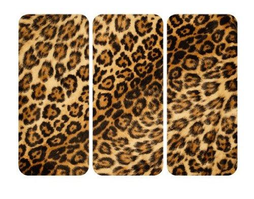 Apalis Selbstklebendes Wandbild Jaguar Skin Triptychon Jaguar Leoparden Fell Tier, Größe:144cm x 216cm