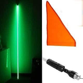 LightBuddy LED Lighted Whips Fiber Optic Quick Disconnect Off- Road ATV Utv Muticolor (5FT, Green)