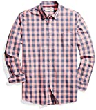 Goodthreads Standard-fit Long-sleeve Heathered Large-scale Check Shirt, Hombre, Rosa (pink/blue), XX-Large (Talla del fabricante: )