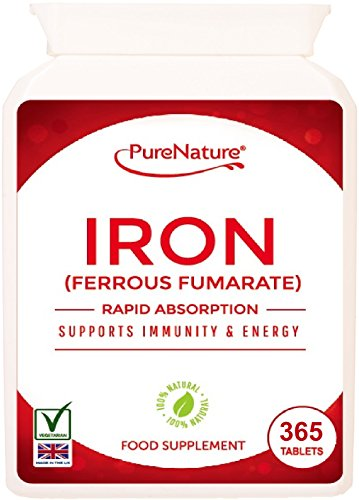 Iron | 365 Tablets | 12 Months Supply | PureNature