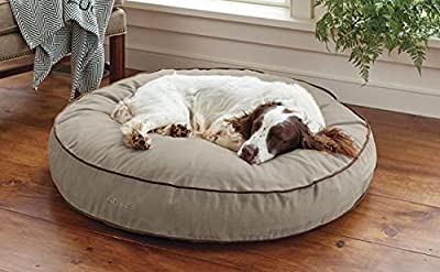 Orvis Comfortfill-eco Round Dog's Nest/X-Large Dog Bed - Dogs 70-100 Lbs, Taupe