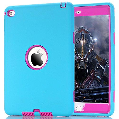 ZERMU - Funda para iPad Mini 4 (3 en 1, Resistente a los Golpes, de Silicona y policarbonato)