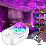 Led Projector Light, Night Projector with Remote Control, Star Projector with 5 White Noises, Light Projector for Adults Kids Holidays Bedroom White