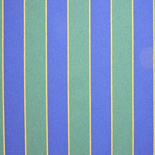LAS TELAS ... Tela de Toldo Rayas Azul y Verde con Teflón por Metros Ancho 3,20Mtr. 1 Mtr.