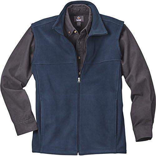 Gravel Gear Men's Zip-Up Fleece Vest - Navy, XL