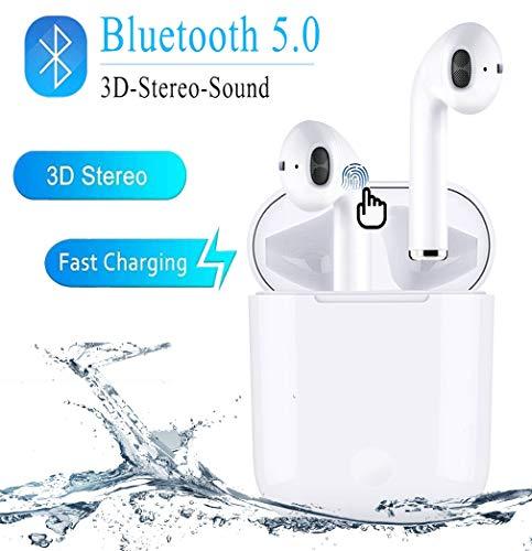 Bluetooth Kopfhörer, In Ear Kabellos Kopfhörer TWS Bluetooth 5.0 Headset Noise Cancelling Ohrhörer mit Mikrofon und Tragbare Ladehülle Für Apple Airpods Android/iPhone/Samsung/AirPods Pro