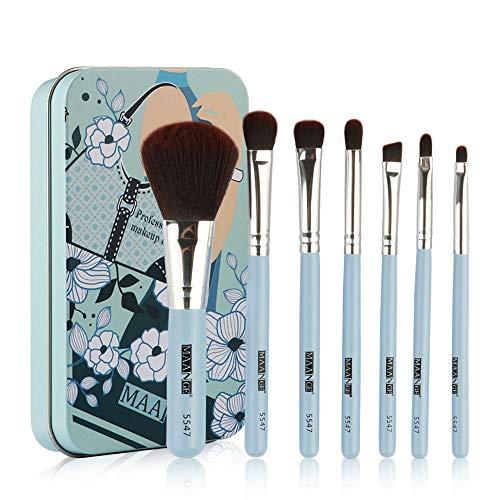 Lomsarsh Pinceaux de maquillage, professionnel 7pcs maquillage pinceau fard à paupières maquillage brosses ensemble contour poudre de fondation maquillage des outils cosmétiques