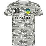 Gaya Entertainment Nation Ucrania - Camiseta de camuflaje (talla 10) camuflaje XXL