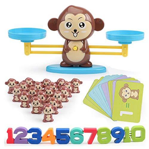 Bubbry Monkey Digitale weegschaal, wiskundig, optelen, leren, voor kinderen