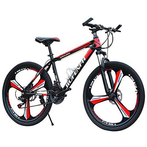 Mountain Bike, Bicicletta Sportiva da Montagna da 24 pollici a 21 velocità, telaio in acciaio al...