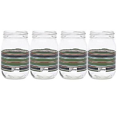 Fiesta Slate Stripe 16-Ounce Jar Glass (Set of 4)