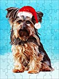 Promini Yorkshire Terrier Dog Christmas , Dog Photo Puzzle, Dog Family Puzzle, Pet Photo Puzzle, Christmas Puzzle 1000 Piece Jigsaw Puzzles Game Toys Gift , 20' x 30'