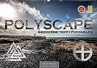 Polyscape - Geometrie trifft Fotografie (Wandkalender 2022 DIN A2 quer): Geometrische Formen multipliziert mit Fotografie aus Stadt und Landschaft (Monatskalender, 14 Seiten )