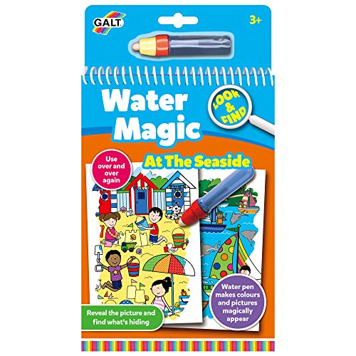 Galt Toys, Water Magic - Look and Find At the Seaside, Colouring Book for...