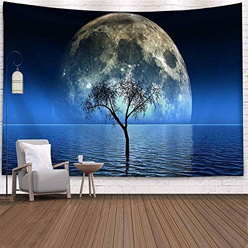 Psicodélico cielo estrellado luz de las estrellas tapiz colgante de pared paisaje hippie tapiz psicodélico arte decoración manta de pared A4 100x150cm