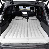 Haomaomao SUV Air Mattress, Inflatable Car Bed with Electric Pump and Pillow, Flocking Surface, Camping Sleeping Pad for Travel SUV Sedan Back Seat Trunk Tent Chevy Jeep Wrangler Toyota Honda Civic