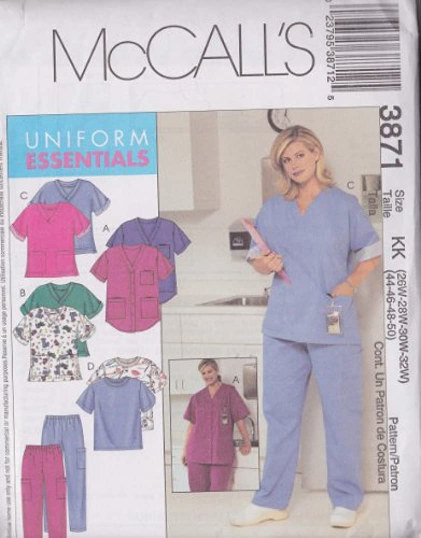 Women's/Women's Petite Tops And Pants McCall's Sewing Pattern 3871 (Size KK: 26W-28W-30W-32W) (44-46-48-50)