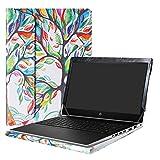 Alapmk Diseñado Especialmente La Funda Protectora de Cuero de PU para 15.6' HP ProBook 450 G5 / ProBook 455 G5 Series Ordenador portátil,Love Tree