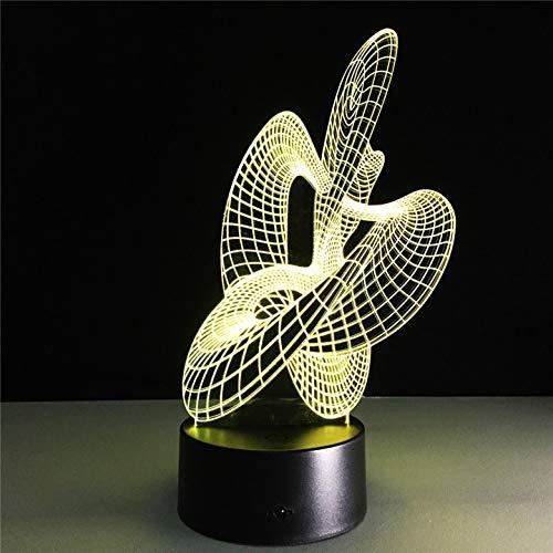 Luces LED artísticas de ilusión óptica 3D Luces LED 3D con 7 variaciones de color