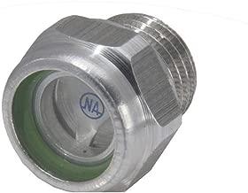 Ölauge Ölstandsauge Ölschauglas Kontrollauge Ölanzeige Aluminium mit Reflektor