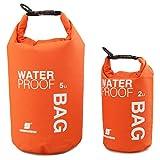 Uncle Paul Bolsas estancas - Naranja 5 litros a la Deriva Impermeable Bolsa Seca para Paseo en Barco, Kayak, Pesca, Canotaje, natación, Camping, piragüismo