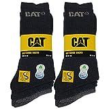 Caterpillar Outdoor socks 6 pares de calcetines para hombre en algodón suave con control de humedad, puntera y talón reforzados (Azul, 41-45)