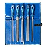 PFERD Werkstattfeilen-Set in PVC-Rolltasche, 5 Feilen, Kreuzhieb H3, 250mm, 11800543 – für die...