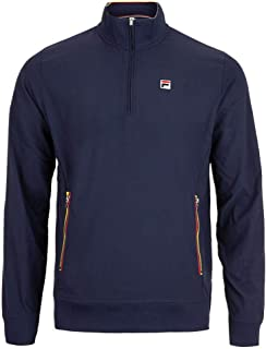Fila Heritage 1/2 Zip Jacket - Navy/Chinese Red/Buttercup