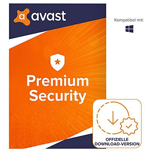 Avast Premium Security 2021 - Antivirenschutz für Windows   1 Gerät   1 Jahr   PC/Mac   Aktivierungscode per Email