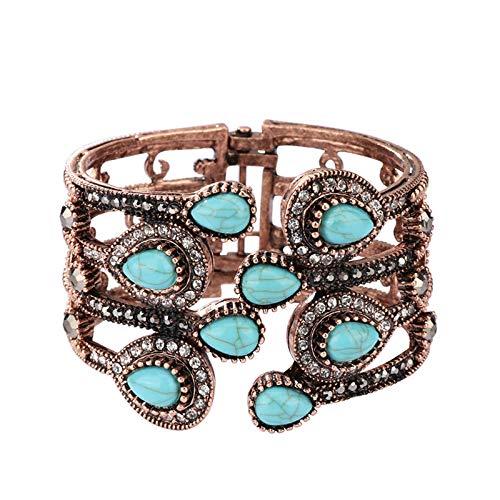 N a Türkisches Armband Armreif Für Frauen Antik Gold Farbe Eingelegt Kristall Retro Schmuck Party Armbänder Zubehör
